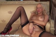 Sam is so lustful in her stockings and heels