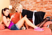 When the frenzied lesbians Leony & Vanessa are lewd they screw