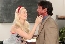 Cheating student Elsa Jean gangbanged by patriarch Tommy Gunn.