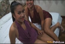 2 cool cock-craving Filipina ladies join foreign tourist for hawt trio