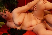 Golden-haired big beautiful woman smashed stiff by a rigid manmeat