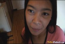 Small youthful Filipina damsel Marie knows how to deepthroat and screw man rod